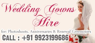 Wedding Gowns on rent / hire in Goa